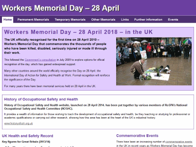 Workers Memorial Day – 28 April