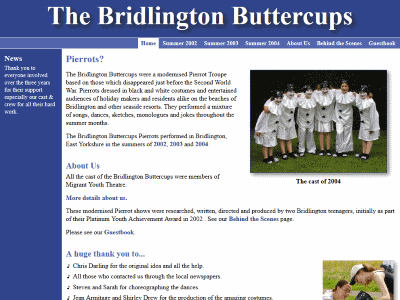 Bridlington Buttercups Pierrot Show